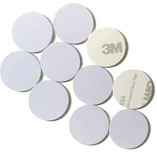 10 x NFC Tags | NXP Chip NTAG215 | 504 Bytes Speicherkapazität |Runde weiße Aufkleber| Hartes PVC und starker 3M-Aufkleber  | Hohe Scankraft | Gleicher Chip wie Tagmo Amiibo