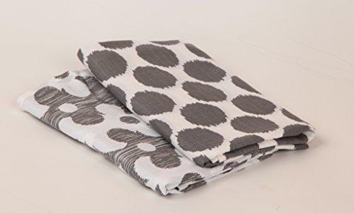 bacati Ikat Coral/Grau 6Kinderbett-Set mit 4Musselin Decken