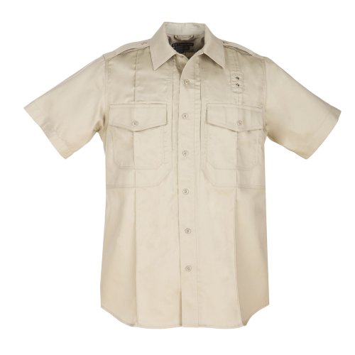 5.11 Tactical Herren # 71177 PDU Short Sleeve Twill Klasse B Shirt, Herren, Silver Tan (Short Top Sleeve Tan)