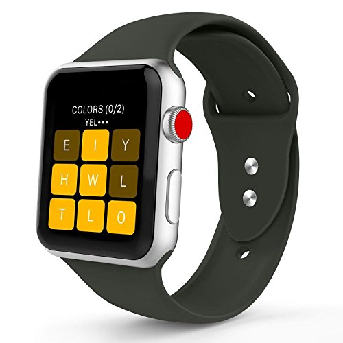 Iyou ZUM Watch Armband 42MM, Weiches Silikon Ersatzarmband Classic Sportarmband ZUM iWatch 2017 Watch Series 3/2/1, Mehr Farben W?hlen Sie - Elektronik-Angebote