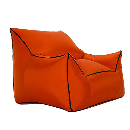 HONBEAL Aufblasbarer Sessel, aufblasbarer Sessel, Rückenstütze, leicht aufzublasen, bequem, kompakt, leicht, langlebig, für den Außenbereich, Unisex, Coffee, Medium -