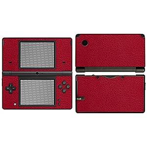 atFoliX Skin kompatibel mit Nintendo DSi, Designfolie Sticker (FX-Leather-Red), Feine Leder-Struktur