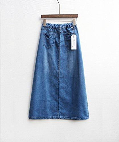 NiSeng Donna Casual Jeans Gonna Elegante Maxi Gonna Jeans Lungo Gonna Denim Skirts (Non È Incluso Cintura ) Blu scuro