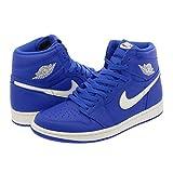 Scarpe Uomo Sneaker Air Jordan 1 Retro Hi OG in Pelle Blu 555088-401