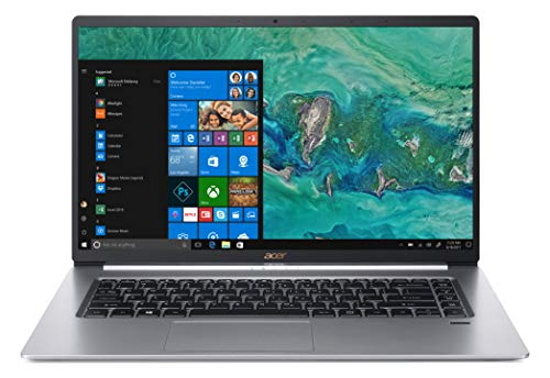 "Acer Swift 5 SF515-51T-73HQ Notebook con Processore Intel Core i7-8565U, RAM da 8 GB DDR4, SSD 256 GB, Display Multi-touch 15.6"" FHD IPS LED LCD, Peso 0,97 Kg, Windows 10 Home, Silver"