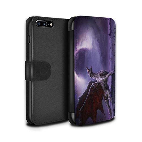 Offiziell Chris Cold PU-Leder Hülle/Case/Tasche/Cover für Apple iPhone 8 Plus / Pack 10pcs Muster / Dunkle Kunst Dämon Kollektion Drachen/Finsternis
