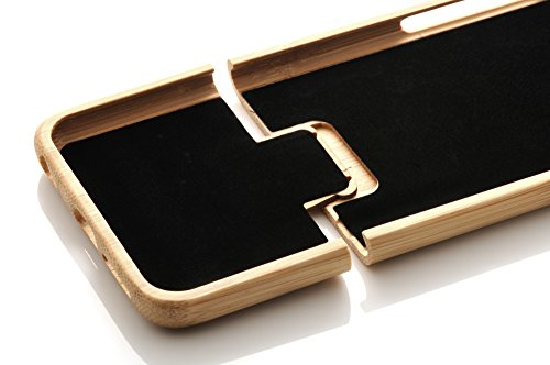 iProtect Apple iPhone 6 Plus, 6s Plus coque de protection en bois - coque rigide en bois de bambou Bambou + PC Hardcase