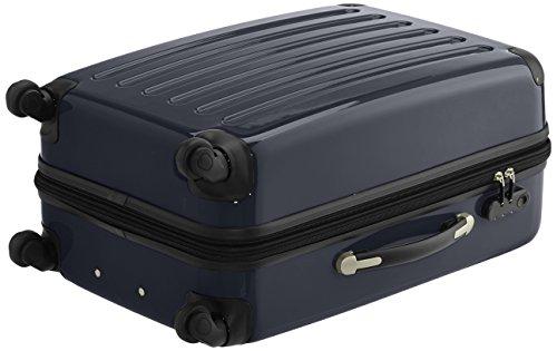 HAUPTSTADTKOFFER - Alex - 2er Koffer-Set Hartschale glänzend, 65 cm, 74 Liter, Graphit-Schwarz Schwarz