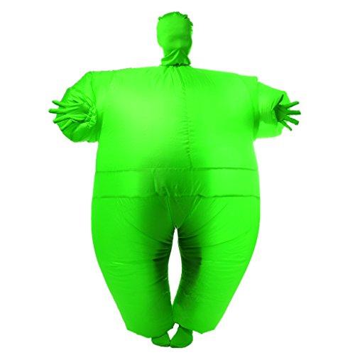 �bel Ganzkörper Anzug Kostüm Ganzanzug Suit Outfit Kostüm Party - Grün, XL (Grün Blow Up Anzug)