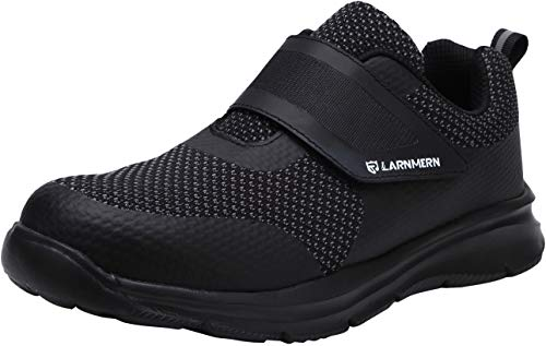 Zapatos de Seguridad Hombres, LM-121 Zapatillas de Trabajo con Punta de Acero Ultra Liviano Reflectivo...
