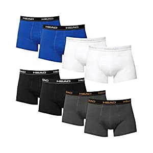 Head 8 x pack Men's Boxer Shorts with Elastic Waistband