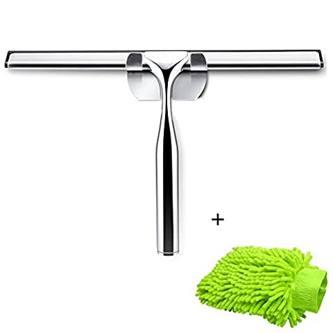 ADOGO Stainless Steel Shower Squeegees with glove