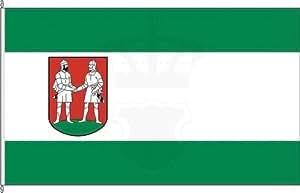 Königsbanner Tischfähnchen Bünde - Tischflaggenständer aus Chrom