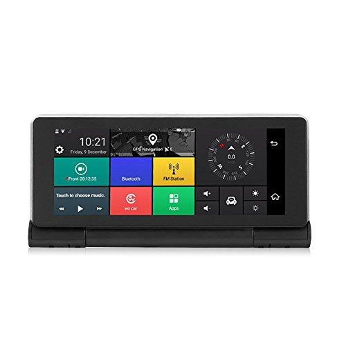 SunnydayDE Dashcam 1080P Autokamera Dual Lens Autokamera Auto DVR Dashboard Camera 3G Android 5.0 GPS Bluetooth