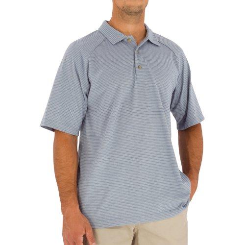 Royal Robbins Herren Dri-Release Short Sleeve Striped Polo Cold Steel