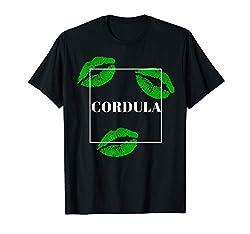 Lustiges Cordula Grün Kostüm Karneval Wiesn Apres Ski Party T-Shirt