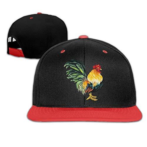 Nifdhkw Kreative Nette Hahn-Logo-Entwurfs-Baumwollhysteresen-Hip Hop-Flache Zungen-Hüte justierbare Unisexbaseballmützen für im Freiensport ()