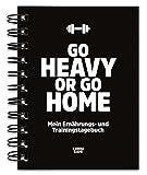 Trainingstagebuch & Ernährungstagebuch für Krafttraining, Fitness Studio, Gym, Bodybuilding,...