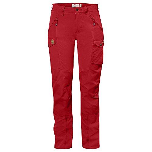 Fjällräven Damen Nikka Curved Trousers Lange Hose, Red, 34