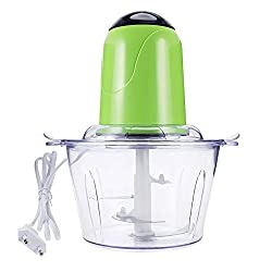 Pinkdose Green: 2L Powerful Meat Grinder Stainless Steel Multifunction Automatic Electric Household Food Chopper Processor Kitchen Accessories