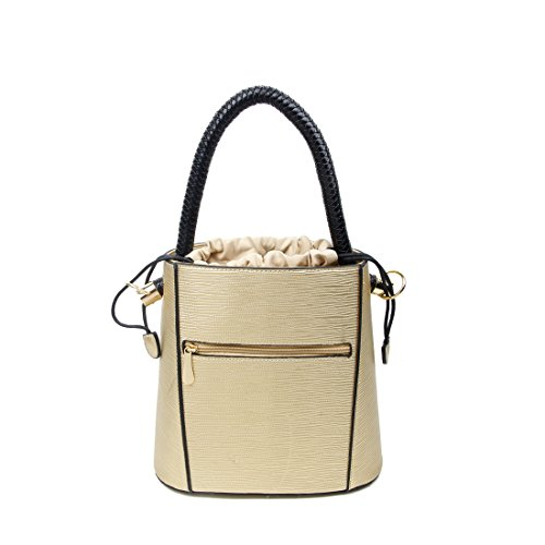 OBC Only-Beautiful-Couture, Borsa a mano donna beige Beige ca.: 27x26x14 cm (BxHxT) gold