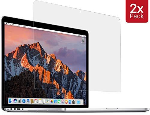 MyGadget 2X Protection écran Crystal Clear pour Apple Macbook Pro Retina 13 Pouces - 2012 à AV.2016 - Film HD Anti Traces Shield Rayures & Vitre Bubble Free