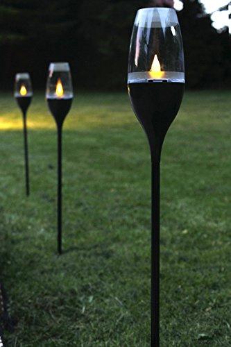 Solarleuchte Fackel Windlicht Multifunktion Tischlicht Gartenlicht Wegeleuchte