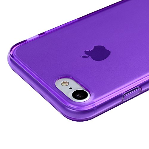 iPhone 7 Custodia Morbido Silicone TPU Gel Ultra Slim Cover - MAXFE.CO Case Silicone TPU Shock-Absorption Bumper,Ultra Sottile Anti Slip,viola viola
