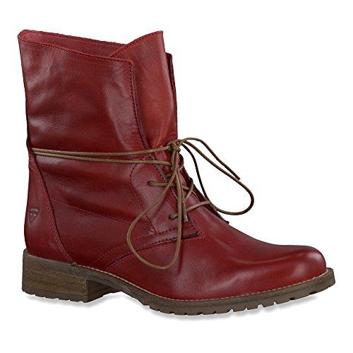 Tamaris 1-25262-25 Senhoras Escarlate Ankle Boot