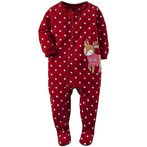 ZARU Navidad Niño recién nacido de la muchacha de manga larga mono del mameluco Conjuntos de ropa ★Ciervos lindo★ niño 0 a 2