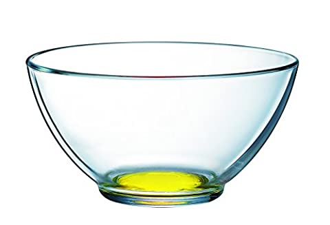 Luminarc Crazy Colors 9213696 Bowl with Glass Transparent/Base Yellow 13.1 x 13.1 x