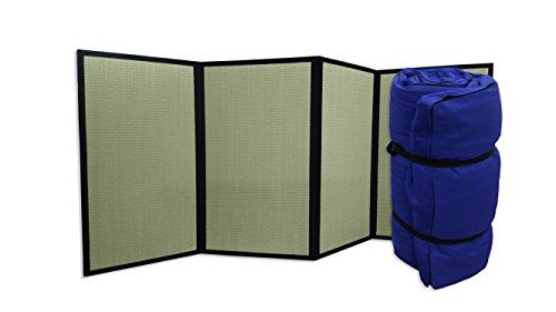 Combinación Tatami Plegable Futon portátil Azul