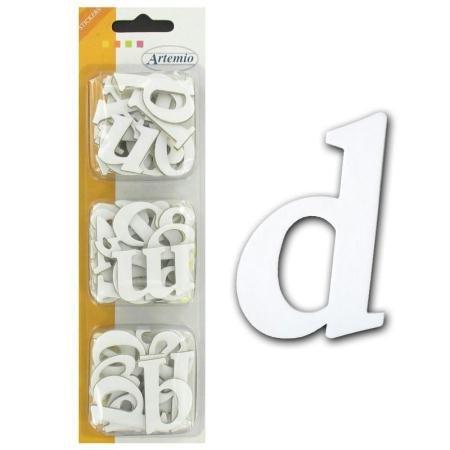 Artemio Spanplatten Aufkleber, Alphabet, Kleinbuchstaben, Weiß -