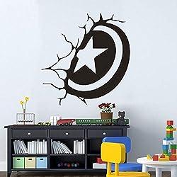 Pegatina Promotion Marvel The Avengers Symbol Kreis Stern im Loch Wand 50cm Aufkleber,Autoaufkleber,Lack,Scheibe,Wand, UV& Waschanlagenfest Profi Qualität UV& Waschanlagenfest,Profi Qualität