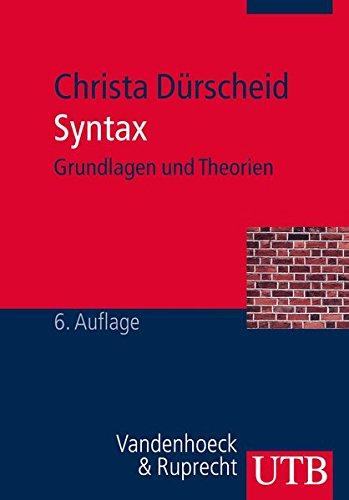 Syntax: Grundlagen und Theorien