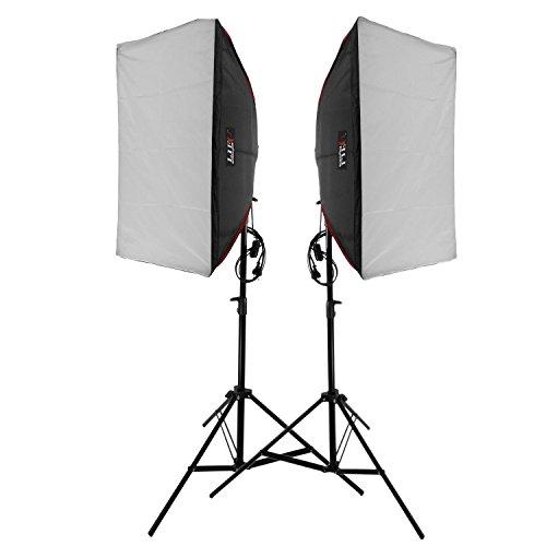Led Dauerlicht mit Softbox Life of Photo ES-570 10x18W LED Lampen Tageslicht für Fotoshooting und Videodreh