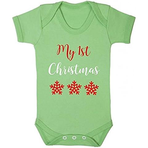 Il mio primo Natale fiocchi di neve Natale Cute Baby Body