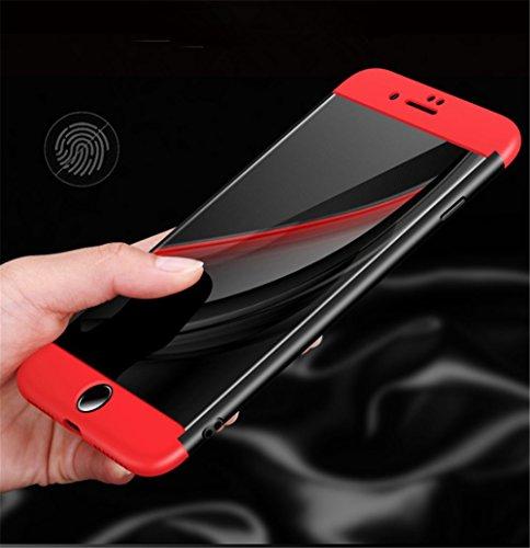 iPhone 7 Hülle,3 in1 Ultra Dünner PC Harte Case 360°Schutz Outdoor Sport Handyhülle Ganzkörper Anti-Scratch Kratzer Schutzhülle für Apple iPhone 7 4.7 Zoll Blau