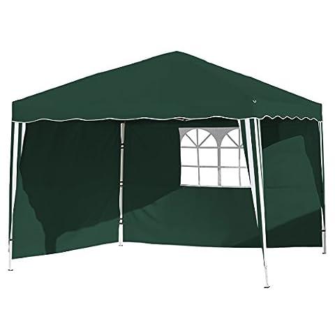 Vanage Pavillon Stella grün aus Aluminium mit 4 Seitenwänden, 300x300x260cm,