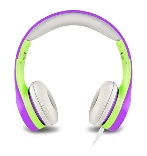 Kopfhörer für Kinder Mit Begrenzter Lautstärke und Abnehmbarem Kabel für Jungen und Mädchen (Purple) -