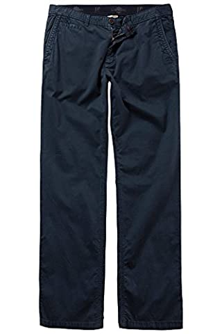 JP 1880 Men's Big & Tall Regular Fit Stretch Cotton Chinos Navy 30 708326 70-30