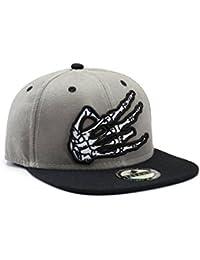 Gris et noir à la main Gang Panneau Casquette Snapback Casquette de baseball