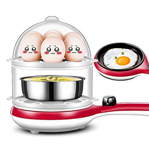 LLYY Eierkocher,Eierkocher Egg Cooker für,Elektrischer Edelstahl Eierkocher,für 14 Eier Boiler Omelett-Pfanne Multifunktional Doppelschicht mit Gedämpftes Ei