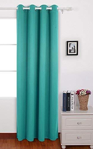 Deconovo tenda oscurante termica isolante con occhielli tende a pannello per finestre soggiorno 140x260 cm un pannello turchese
