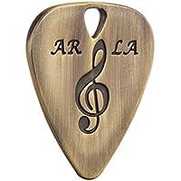Laileya Aleación de zinc metal único de la guitarra de la púa del punk rock con estilo colgantes del collar Instrumentos