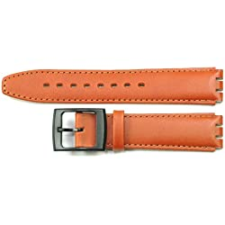 Replacement TAN Brown Leather SWATCH Watch Strap 17mm