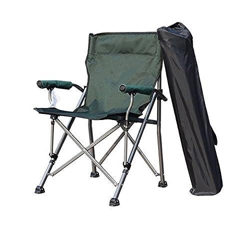 Heruai Siège pliant portable en plein air Pont Chaise Camping