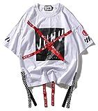 Pizoff Unisex Hip-Hop Coole Sweatshirts Langarm Oversized Straße Stil, 01080002xwhite, XL