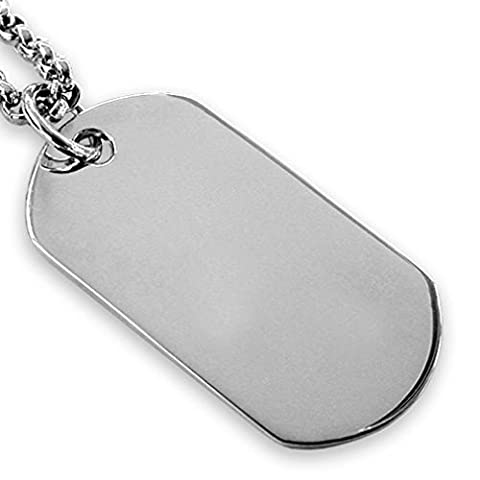 Sterling silber oval Dog Tag - 3cm