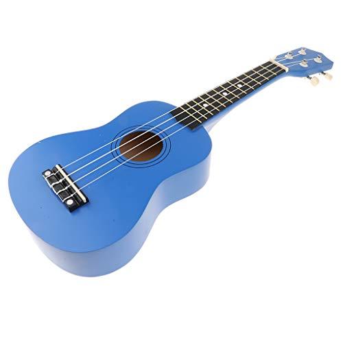 Fenteer Hochwertig Sopran Ukulele Hawaii Gitarre Holz Musik Spielzeug, Geschenk für Geburtstag und Weihnachten - Dunkelblau